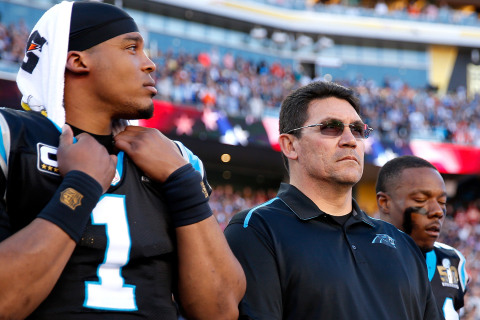 Panthers' Head Coach Defends Cam's Actions After Super Bowl 50