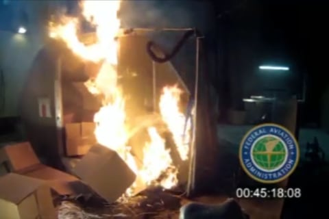 Experts: Shipping Lithium Ion Batteries in Bulk as Cargo on Planes Is Unsafe