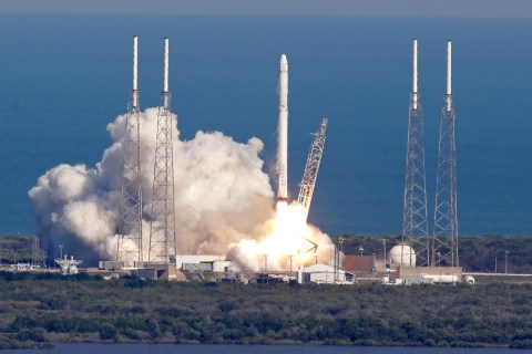SpaceX Rocket Lands on Ocean Drone Ship in Historic First