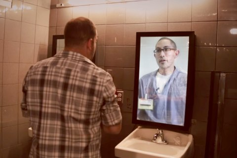 Man in the Mirror Sends Shocking Anti-Drunken-Driving Message