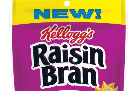 Kellogg's Raisin Bran Now Available as Crunchy Granola Pouches