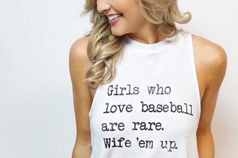 'Girls Who Love Baseball Are Rare' Shirt Sparks Backlash