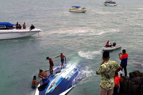 Briton and German Dead After Boat Capsizes in Thailand