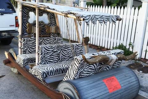 'Flintstones' Footmobile Slapped With Parking Ticket in Key West, Florida