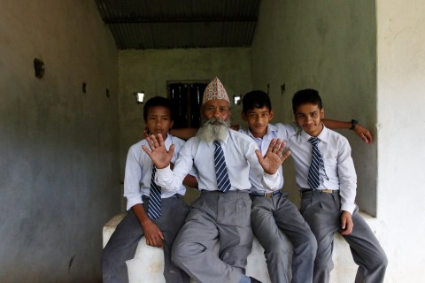 Never Too Old: Meet Nepal's 68-Year-Old Student
