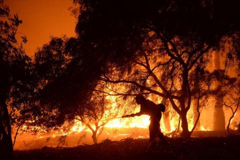 Sherpa Wildfire Threatens Santa Barbara