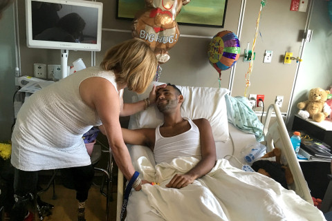 Boston Bombing Survivors Visit With Orlando Massacre Victims