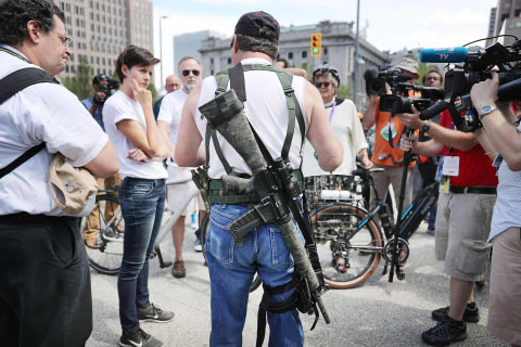 Cleveland Gun Rights Rally on RNC Eve Fails to Draw Crowd