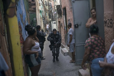 Gangs and Police Battle for Control of Rio's Slums