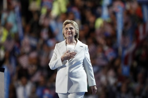 On Historic Night, Hillary Clinton Delivers Pragmatic Speech in Play for Voters