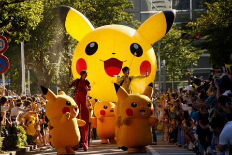 Pikachus Parade Through Pokemon Festival