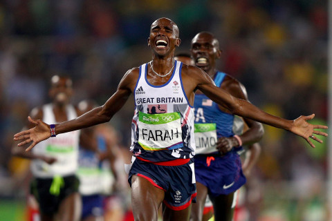 Olympic Moments: Britain's Mo Farah Wins 5000m Gold Medal and More