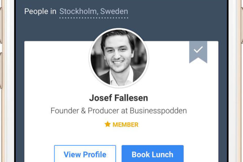 Swedish Start Up Hopes Users Eat Up App Matching Lunch Partners