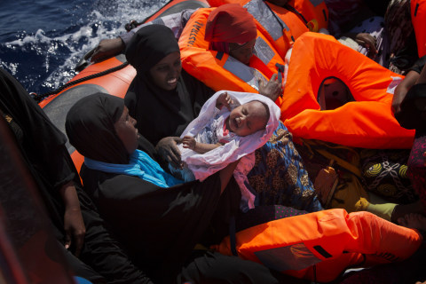 Hundreds of Migrants Rescued From Dinghies in Mediterranean