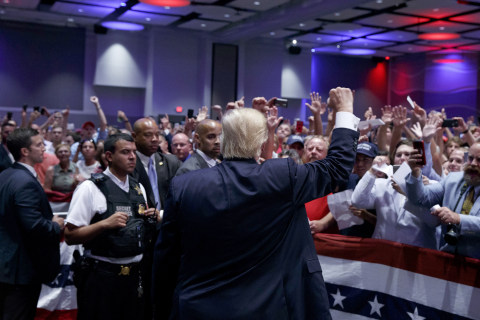 Trump Narrows Ad-Spending Gap