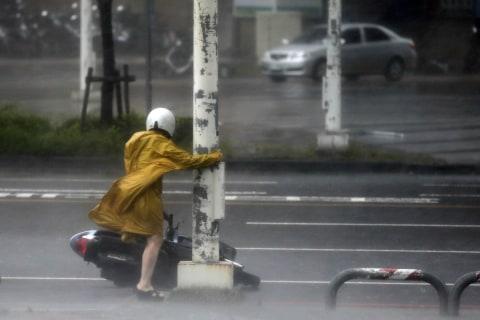 Southern Taiwan Reels from Super Typhoon Meranti's Devastation