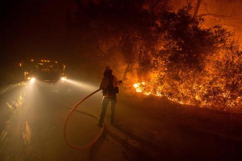 Wildfire Chews Through California's Santa Cruz Mountains