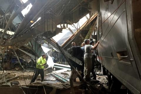 Rush Hour Train Crashes into Hoboken Train Station