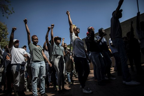 Today in Pictures: Students Protest in South Africa and More