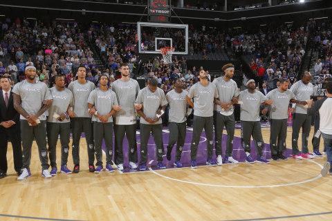 Singer Takes Knee While Belting National Anthem at NBA Game