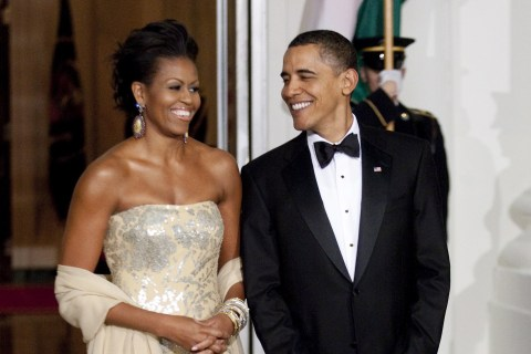 Obamas' Affection Radiates at Every State Dinner