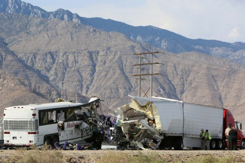 Tour Bus Crashes Into Truck, Killing 13 on California Highway