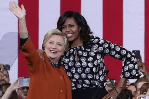 Clinton and FLOTUS Take On Bullies at Joint Rally