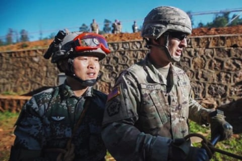 U.S., Chinese Troops Find Common Ground During Disaster Drill