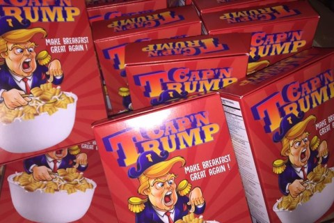 Young Immigrant Artist Creates 'Cap'n Trump' Cereal Box Art