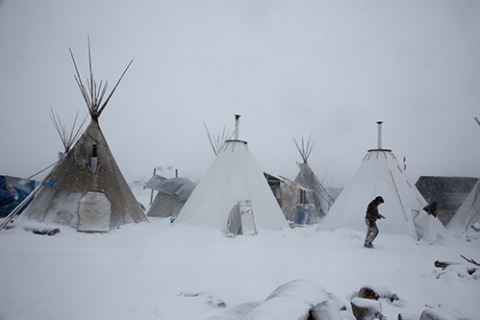 Cruel Winter Could Be First Blow to Protesters' Pipeline Dreams