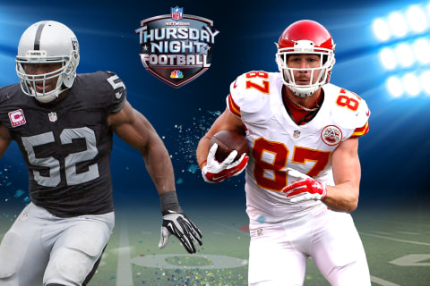 LIVE ON NBC: Raiders, Chiefs Clash in AFC West Showdown on TNF