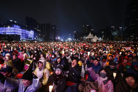 South Koreans Rally Again, This Time to Celebrate Impeachment