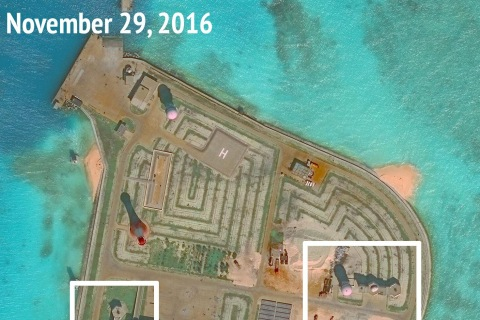 South China Sea Artificial Islands Have Weapons Installed: Report