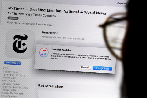 Apple removes New York Times apps in China Apple removes New York Times apps in China new picture