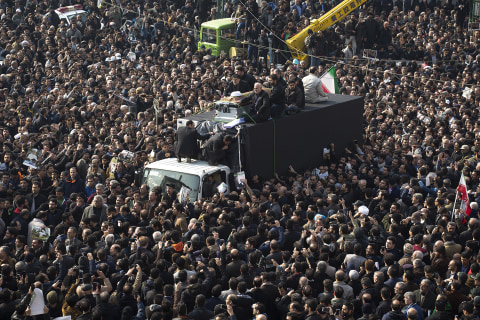 Mourners Fill Streets at Funeral of Late Iranian President