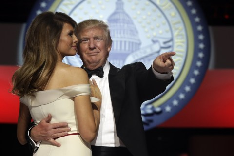Inauguration Done, President Trump Celebrates at Balls