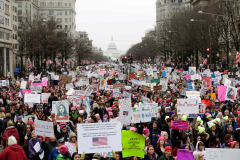 Women's Marches Held Around the World in Solidarity With D.C. Demonstration