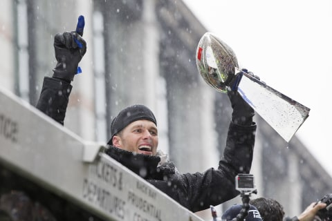 Messy Weather Can't Dampen Patriots' Super Bowl Parade