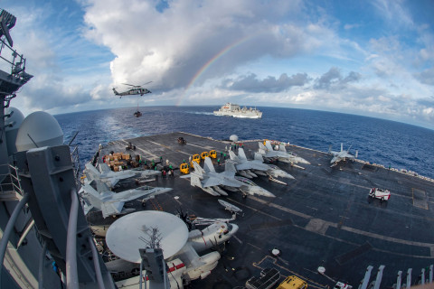 US Aircraft Carrier, Warplanes and Destroyer Begin 'Routine Operations' in South China Sea