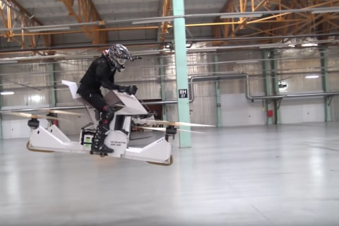 Watch This Futuristic Hoverbike Ace Its Test Flight