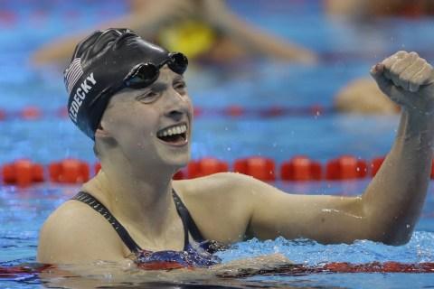 Katie Ledecky Breaks Ryan Lochte's Record in 500M