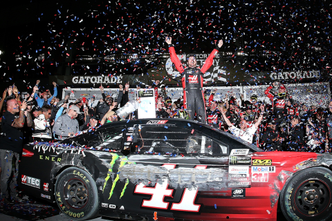 WATCH: Kurt Busch Takes Lead on Final Lap to Win Daytona 500