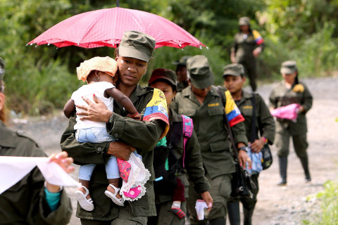 Colombia's FARC Rebels Put Down Guns, Pick up Baby Bottles