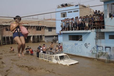 Heavy Rains Flood Desert Capital of Peru
