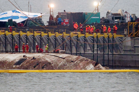 South Korean Ferry That Sank 3 Years Ago, Killing Hundreds, Lifted From Sea