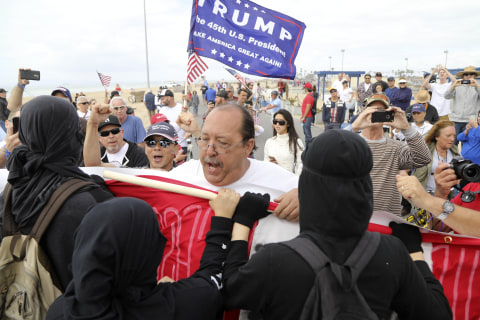 Scuffles as Pro-Trump Rallies Held; 6 Arrested in California Clash