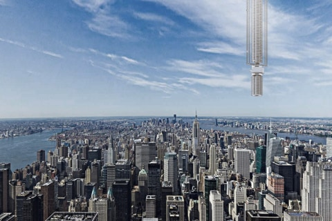 Firm Floats Plan to Hang Colossal Skyscraper From an Asteroid
