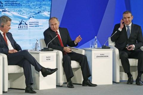 Vladimir Putin Misquotes Ronald Reagan and George H.W. Bush to Deny Election Hacking