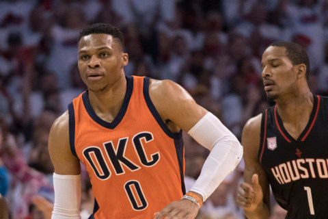Russell Westbrook Records Triple-Double ... in First Half