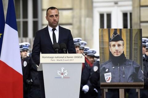 Partner of Slain Paris Police Officer Gives Heartbreaking Eulogy